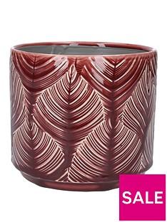 gisela-graham-medium-berry-leaf-ceramic-pot