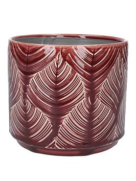 gisela-graham-medium-berry-leaf-ceramic-pot