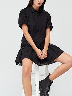 missguided-broderie-ruffle-shirt-smock-dress-black