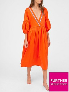 pitusa-scrunch-sleeve-maxi-dress