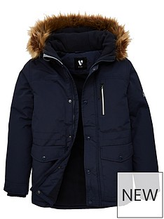 v-by-very-boys-shower-proofnbspfaux-fur-hooded-parka-navy