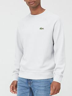 lacoste-classic-crew-neck-sweatshirt-grey-heather