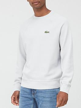 lacoste-classic-crew-neck-sweatshirt-grey-heather