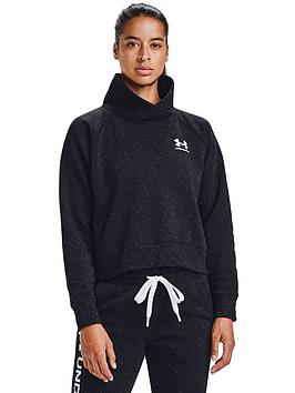 under-armour-rival-fleece-wrap-neck-sweat-black