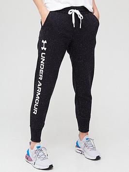 under-armour-rival-fleece-metallic-joggers-blackwhite
