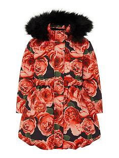 monsoon-girls-recycled-roses-print-padded-coat-red