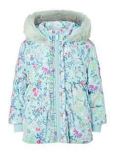 monsoon-baby-girls-padded-ditsy-print-coat-aqua