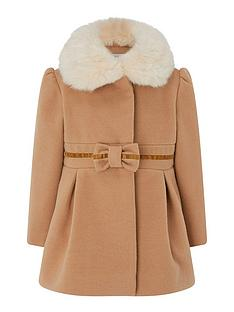 monsoon-baby-girls-bow-coat-camel