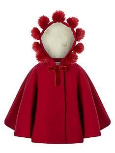 monsoon-baby-girls-pollynbsppompom-cape-red