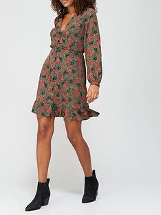v-by-very-v-neck-button-through-mini-dress-floral-print