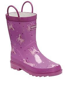 regatta-minnow-unicorn-print-junior-welly-pink