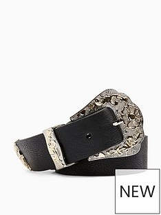 topshop-mixed-metal-western-belt-black
