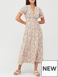 v-by-very-v-neck-frill-tea-dress-floral-print