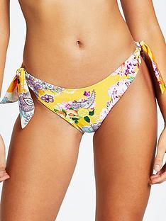 river-island-paisley-print-high-leg-bikininbspbrief-yellow