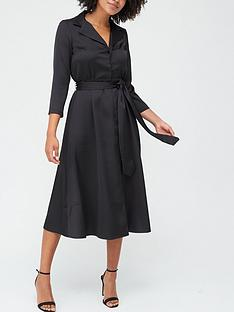 v-by-very-tailored-tie-waist-midi-dress-black