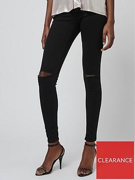topshop-ripped-knee-joni-jeans-black