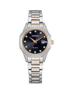 citizen-citizen-eco-drive-black-and-rose-gold-detail-diamond-set-date-dial-two-tone-stainless-steel-bracelet-ladies-watch