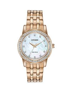 citizen-citizen-eco-drive-mother-of-pearl-crystal-set-dial-gold-stainless-steel-bracelet-ladies-watch