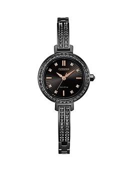 citizen-eco-drive-black-and-rose-gold-detail-austrian-crystal-set-dial-black-austrian-crystal-set-stainless-steel-bracelet-ladies-cocktail-watch