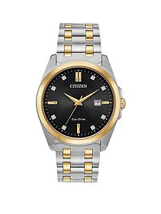 citizen-citizen-eco-drive-black-and-gold-detail-diamond-set-date-dial-two-tone-stainless-steel-bracelet-mens-watch