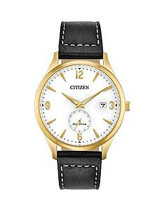 citizen-citizen-eco-drive-white-and-gold-detail-date-dial-black-leather-strap-mens-watch