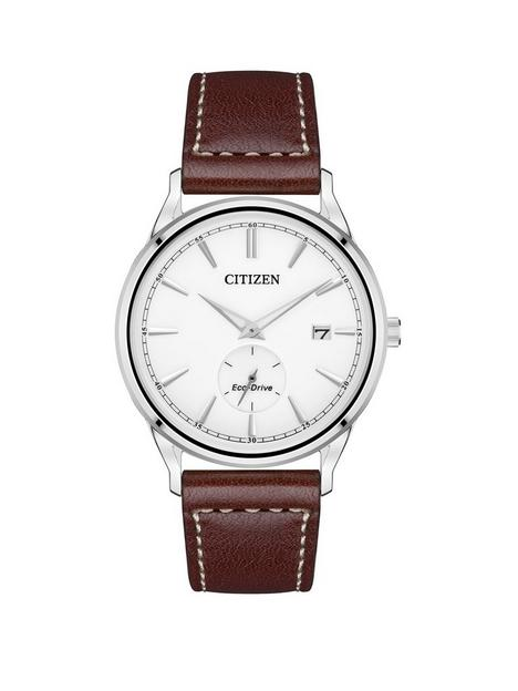 citizen-citizen-eco-drive-silver-date-dial-brown-leather-strap-mens-watch