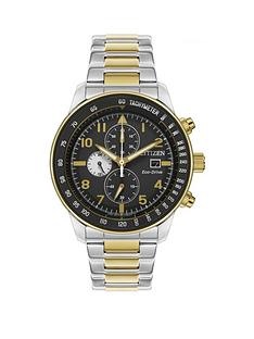 citizen-black-and-gold-detail-chronograph-dial-two-tone-stainless-steel-bracelet-mens-watch