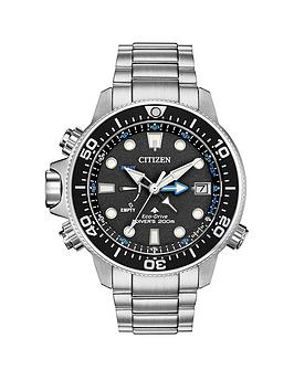 citizen-drivers-promaster-aqualand-eco-drive-black-and-blue-detail-dial-stainless-steel-bracelet-watch
