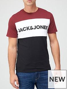 jack-jones-logo-colour-block-t-shirt-burgundy
