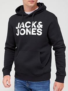 jack-jones-logo-overhead-hoodie-black