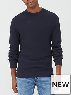 jack-jones-textured-knit-crew-neck-jumper-navy