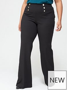 v-by-very-curve-button-detail-wide-leg-trouser