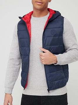 jack-jones-hooded-gilet-navy