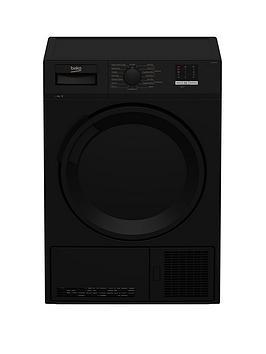 Beko Dtlce80051B 8Kg Load, Full Size Condenser Sensor Tumble Dryer - Black