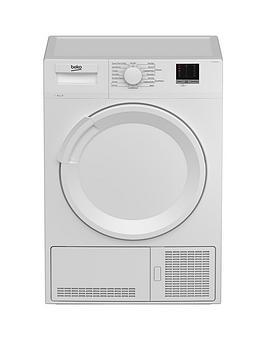 Beko Dtlce80051W 8Kg Load Full Size Condenser Sensor Tumble Dryer - White