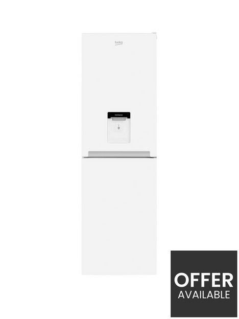 beko-cfg3582dw-55cm-wide-frost-free-fridge-freezer-with-water-dispenser-white