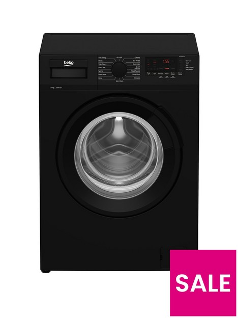 beko-wtl84111b-8kg-load-1400-spin-washing-machine-black