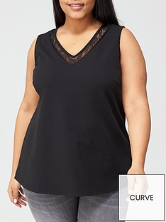 v-by-very-curve-lace-trim-jersey-cami-black