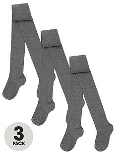 v-by-very-3-packnbspgirls-flat-knit-tights-grey