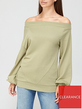 v-by-very-off-the-shoulder-slouchy-sweat-khaki