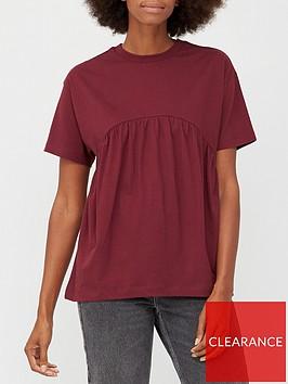 v-by-very-peplum-t-shirt-burgundy