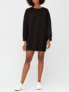 v-by-very-pleat-back-sweat-dress-black