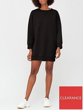 v-by-very-pleat-back-sweat-dress-black