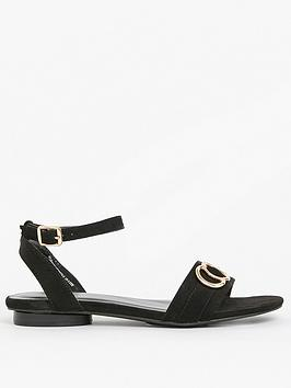 evans-extra-wide-fitnbspbuckle-double-strap-sandals-black