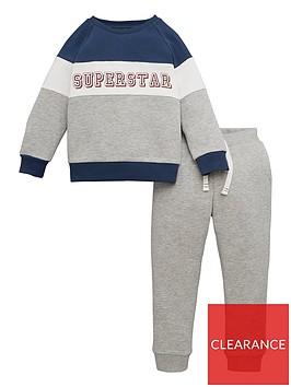 mini-v-by-very-boys-super-star-colour-block-jog-suit-grey-marl