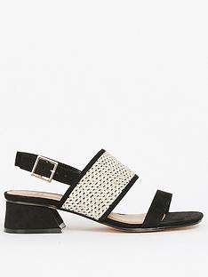 evans-extra-wide-fit-black-weave-flared-heel-sandals-black