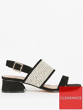 evans-extra-wide-fit-black-weave-flared-heel-sandals-black