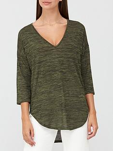 v-by-very-snit-v-neck-slouchy-tunic-khaki