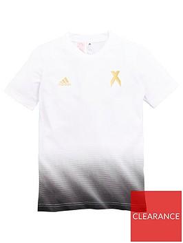 adidas-youth-x-short-sleeve-t-shirt-whitegold