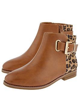 monsoon-girls-mollie-buckle-animal-boot-tan